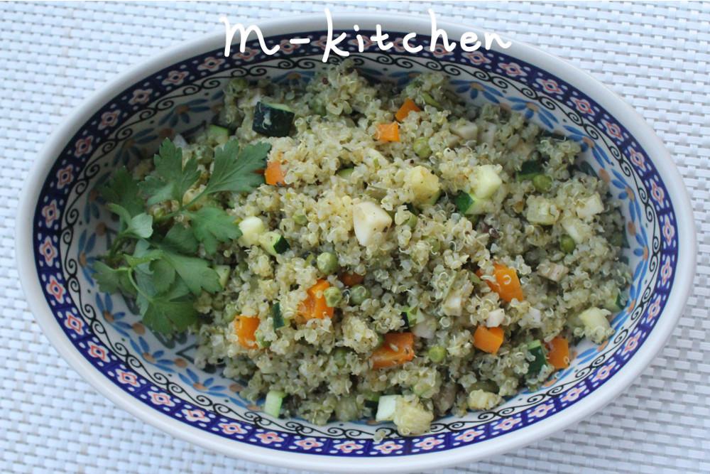 キヌアの焼きサラダ2