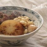 大豆と大根の煮物