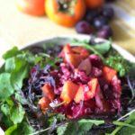 秋のフルーツサラダ