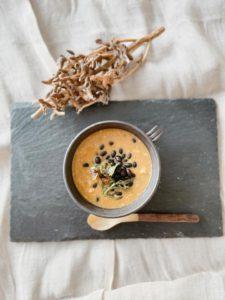 黒千石大豆のスープ