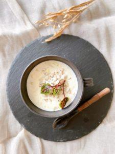 はと麦と白菜のクリームスープ