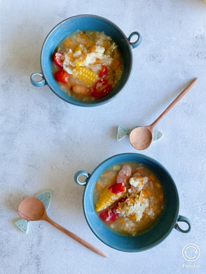 ひえとあわのスープ2